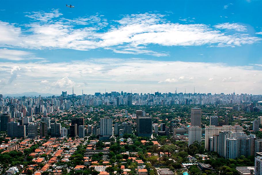 Vista aérea dos Jardins, São Paulo