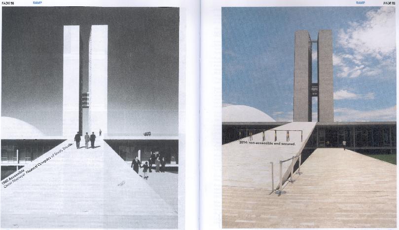 Congresso Nacional -1960 acessível, 2014 não acessível e de entrada barrada.