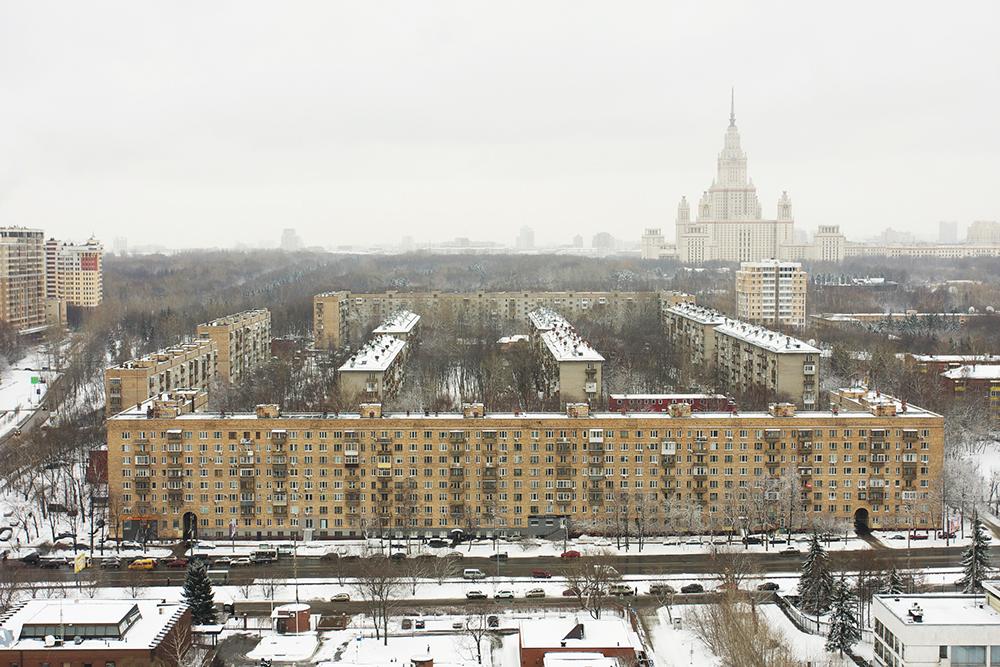 Blocos habitacionais da URSS, provavelmente da metade do século 20. Foto: mvstang @ Flickr
