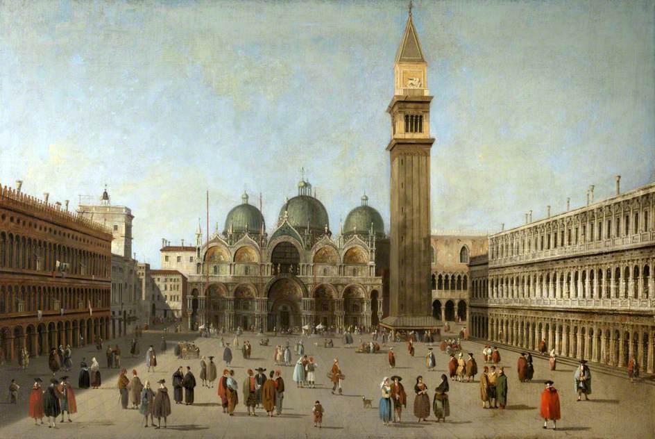 Praça de São Marcos, Veneza, por Canaletto. Imagem: Thirlestane Castle Trust