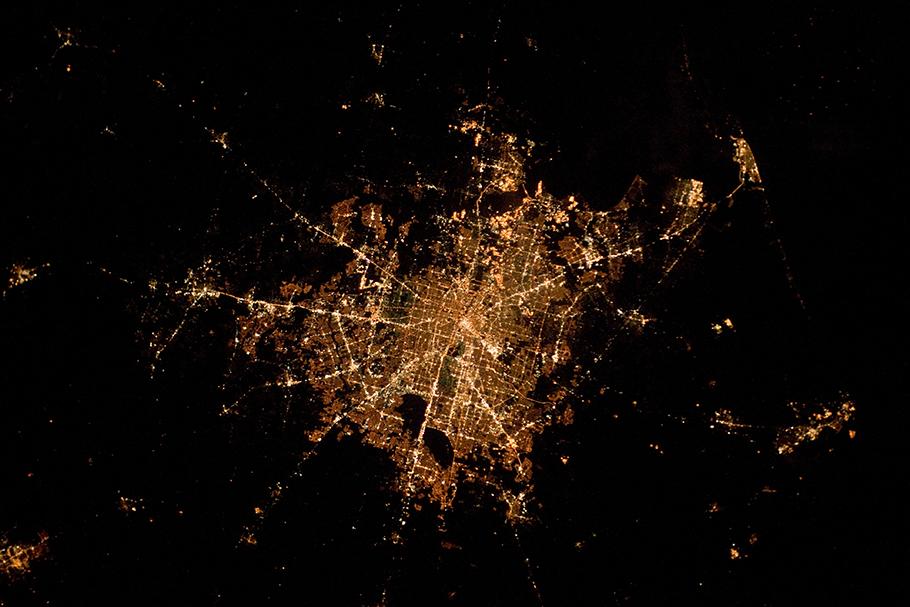 Foto aérea mostrando a densidade de Houston, Texas