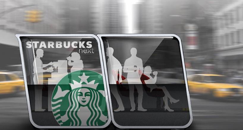 Módulo conceitual Starbucks, desenvolvido pela Next.
