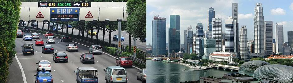Cingapura foi a primeira cidade do mundo a adotar o pedágio urbano. A solução começa a ser discutida em São Paulo, mas deve encontrar resistência à sua implantação