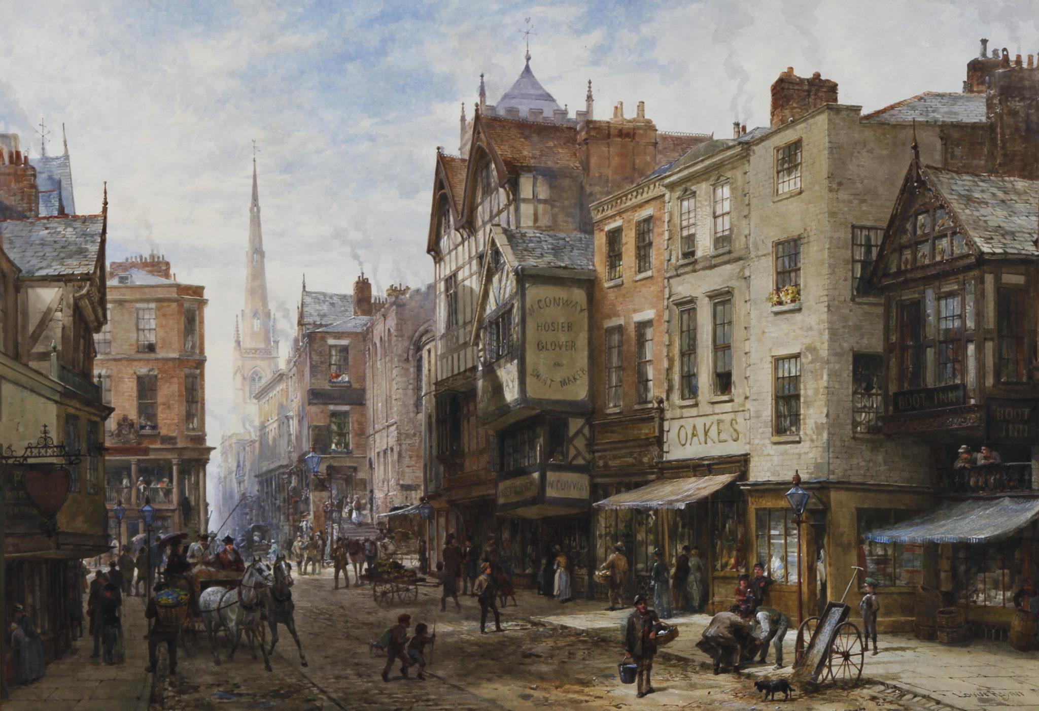 Pintura de Chester, Inglaterra por Louise Wayner. Foto: Wikipedia Commons.