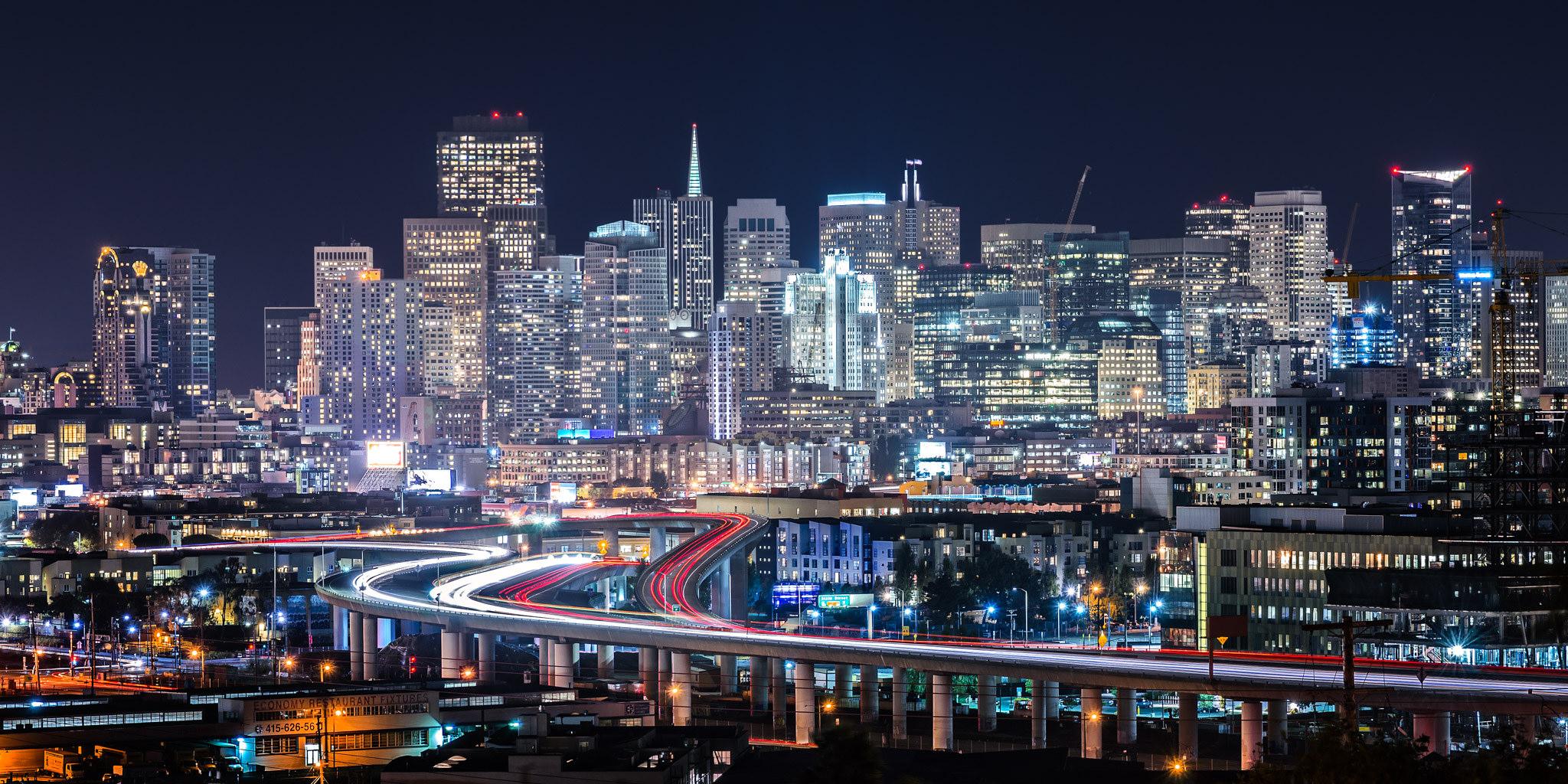 Potrero Hill, em San Francisco. É considerada a segunda cidade mais densa dos EUA. Foto: anotherangle @ Flickr.