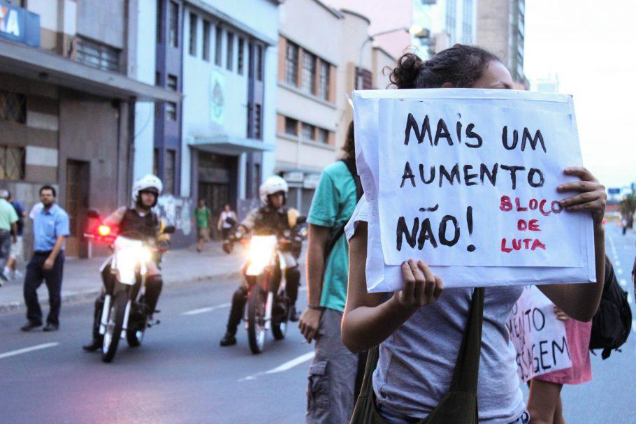 Aumento da tarifa do transporte público foi o estopim de série de protestos que ficou conhecida como Jornadas de Junho