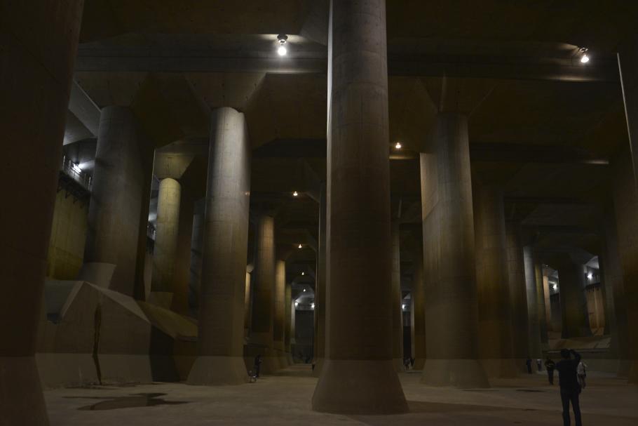 Cisternas subterrâneas de Tóquio contra inundações