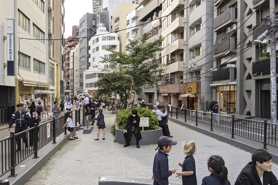 Espaço público em Omotesando