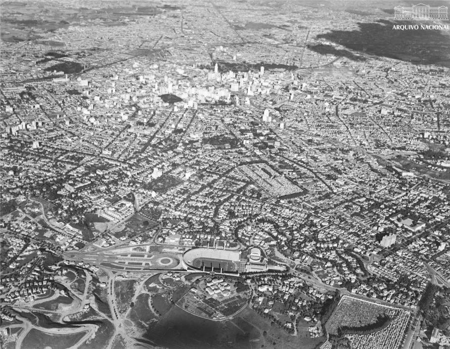 Vista aérea da cidade de São Paulo, 1940