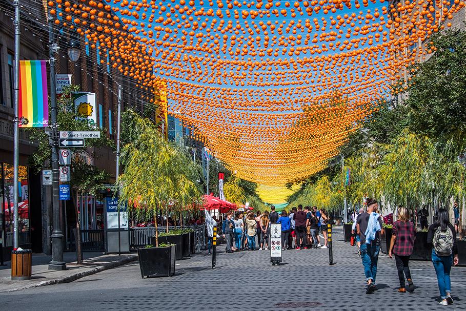 Rua Catherine Street. Montreal