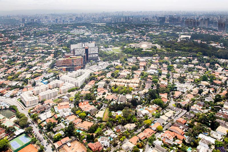 Vista aérea do Morumbi.