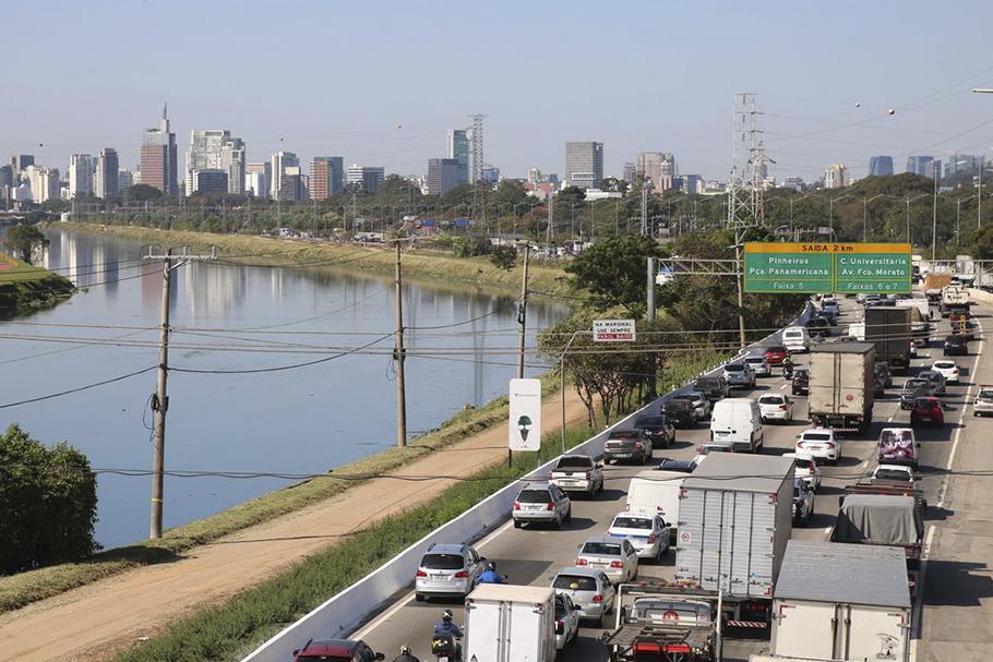 Trecho da marginal Pinheiros, zona oeste de São Paulo.