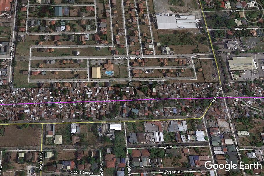 Vista do Google Earth da área metropolitana de Manila, nas Filipinas.