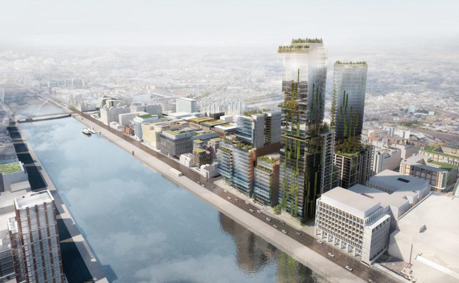 Desenvolvedor irlandês Johnny Ronan busca construir o primeiro arranha-céu da Irlanda. A torre residencial de 45 andares nas docas de Dublin seria o edifício mais alto do país.