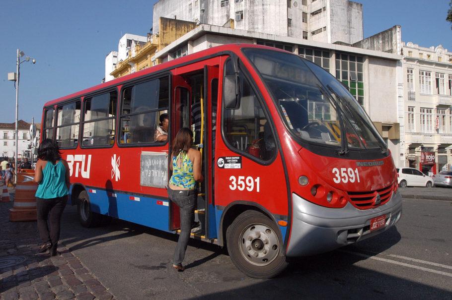 Transporte público em Salvador.