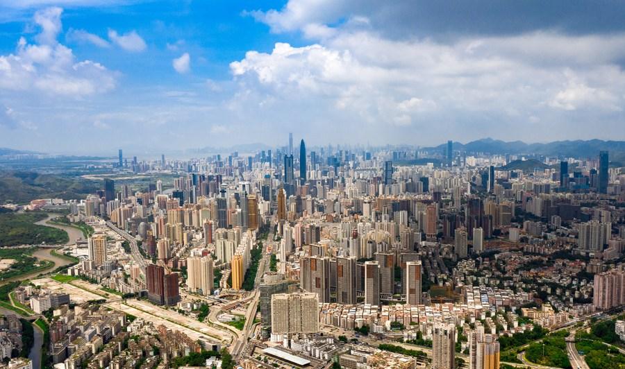 Expansão urbana em Shenzhen, 2020.
