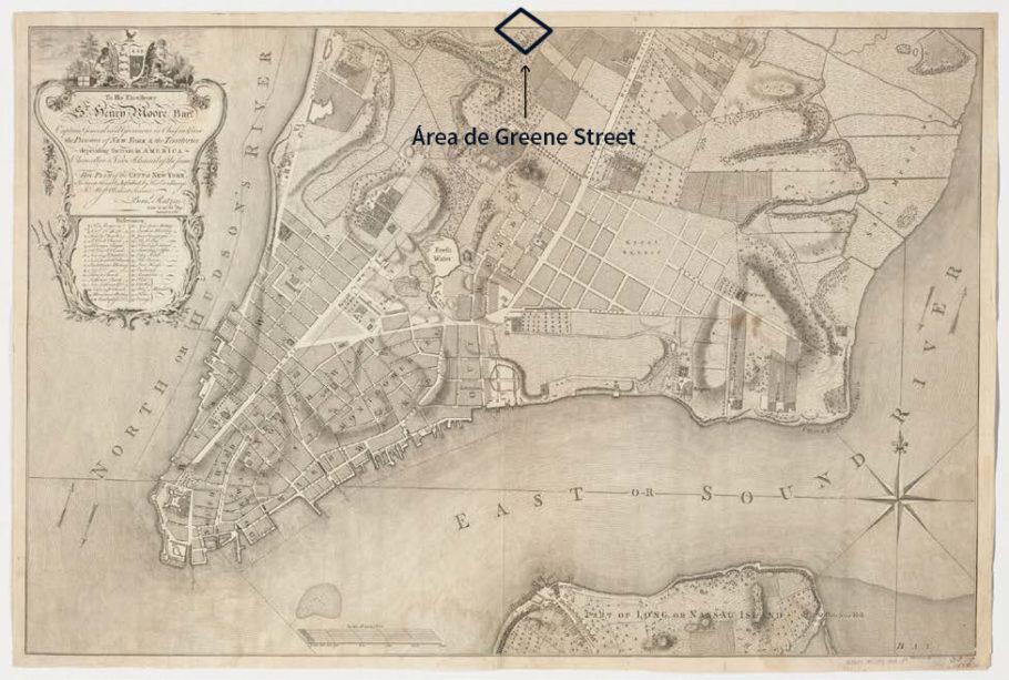 Lower Manhattan em 1767