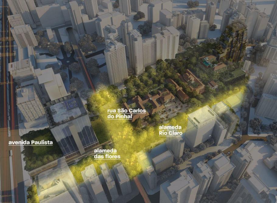 Região onde o parque seria construído